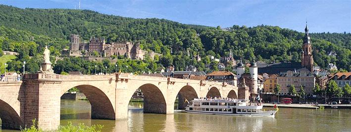 Vieux pont et château d'Heidelberg