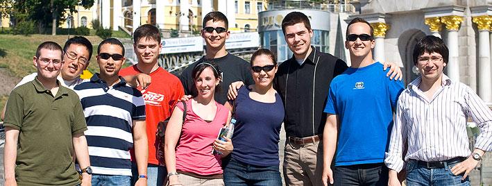 Étudiants en séjour linguistique à Kiev