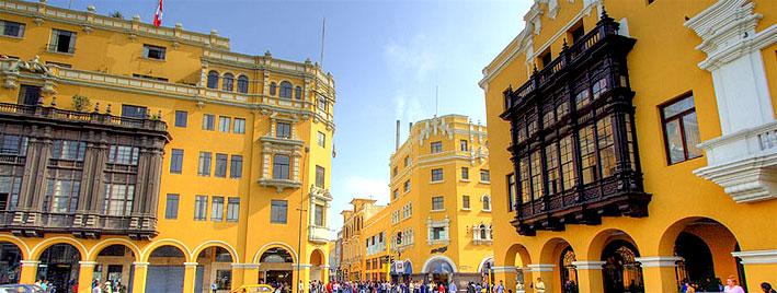 Hôtel de ville sur la Plaza de Armas à Lima, au Pérou