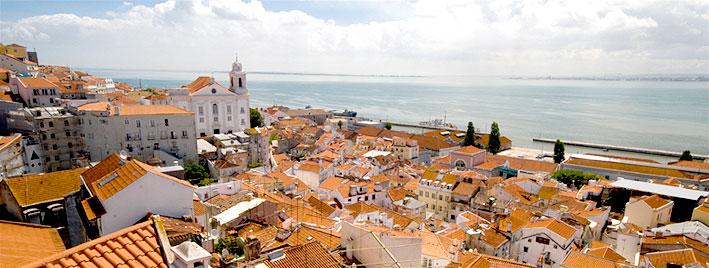 Toits de Lisbonne, au Portugal