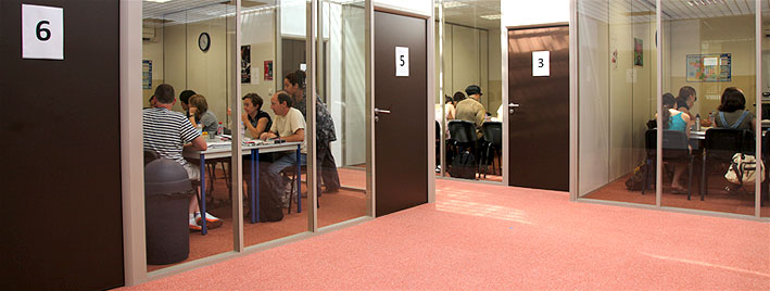 Salles de classe à l'école de langues de Lyon