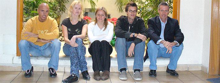 Étudiants en séjour à notre école de Mexico