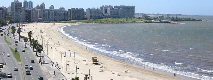 Plage de Montévidéo, en Uruguay