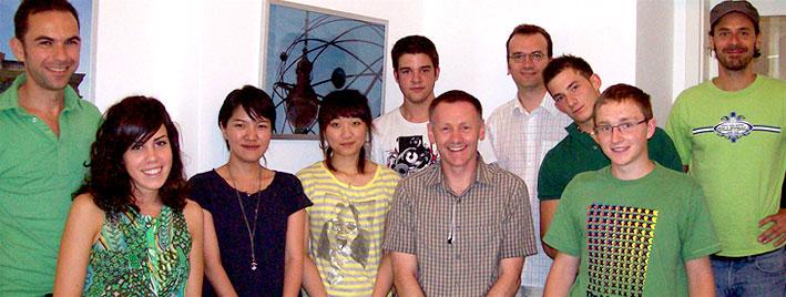 Groupe d'étudiants en séjour linguistique à Munich