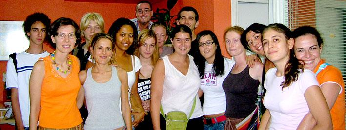 Groupe en séjour linguistique à Murcie