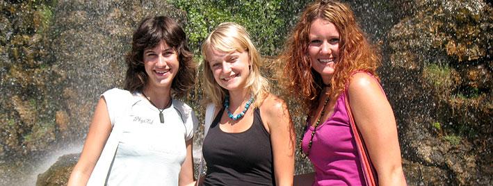 Étudiantes en séjour linguistique à Nice