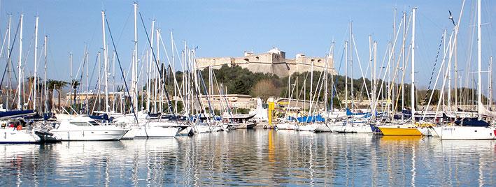 Port Lympia à Nice, en France