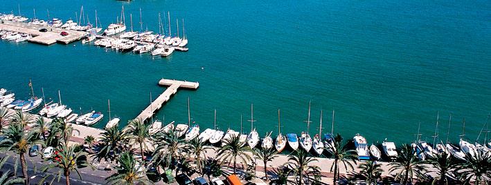 Bateaux amarrés à Palma de Majorque