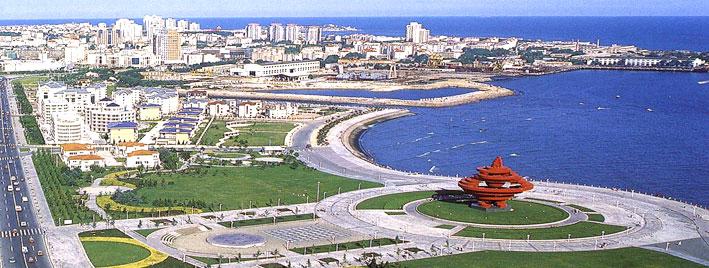 Vue aérienne de Qingdao, en Chine