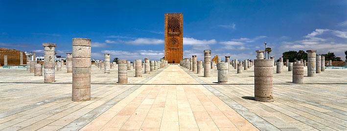 La tour Hassan de Rabat, au Maroc