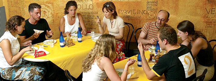 Café de l'école de langues de Rome