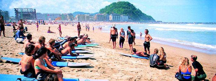 Cours de surf à Saint-Sébastien
