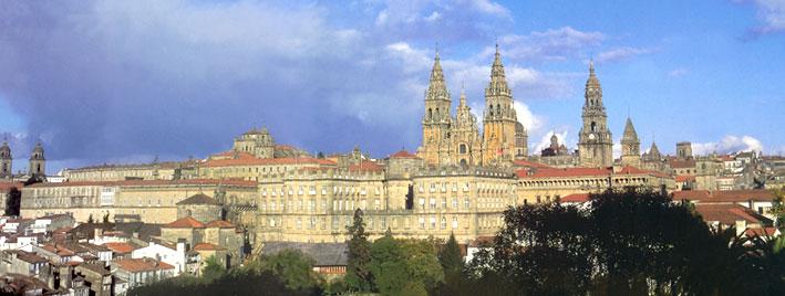 Vue de Saint-Jacques-de-Compostelle en Espagne