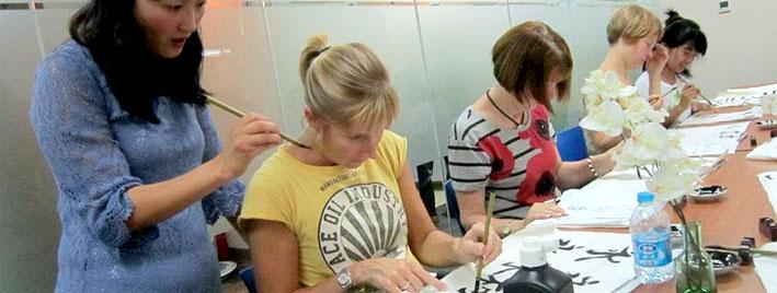 Atelier caractères chinois à Shanghai