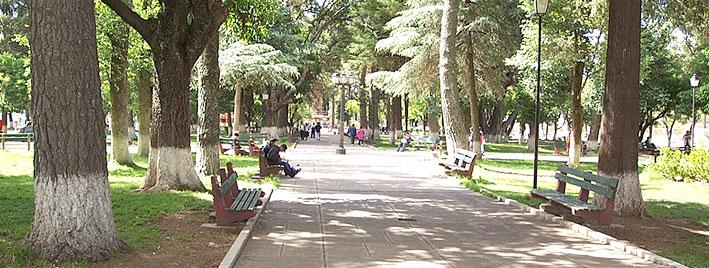 Parc ensoleillé à Sucre, en Bolivie