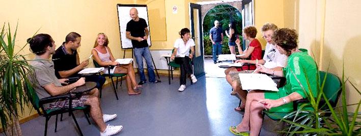 Classe d'italien à Taormine
