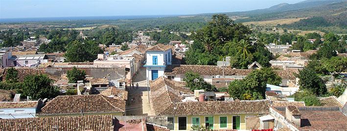 Vue sur les toits de Trinidad, Cuba