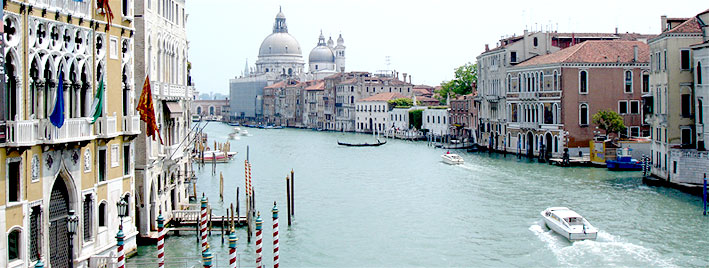 Célèbre vue de Venise, en Italie