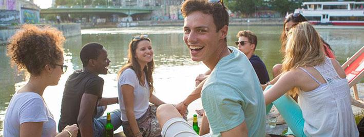 Étudiants en séjour linguistique à Vienne