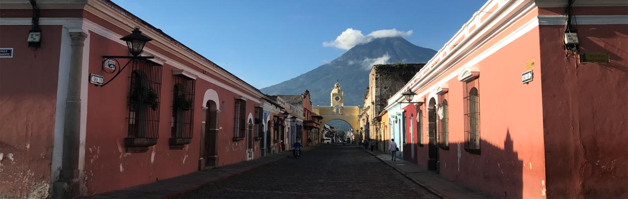 Centre de la ville d'Antigua, Guatemala