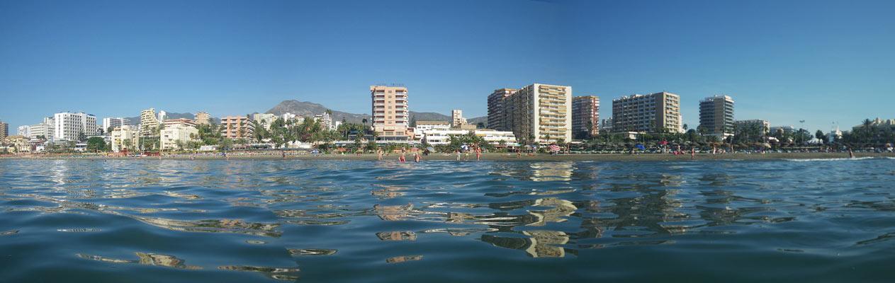Plage de Benalmadena, au bord de la mer d'Alboran
