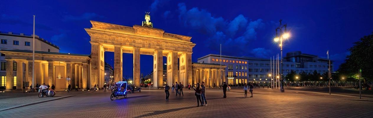 Porte de Brandenbourg la nuit, Berlin