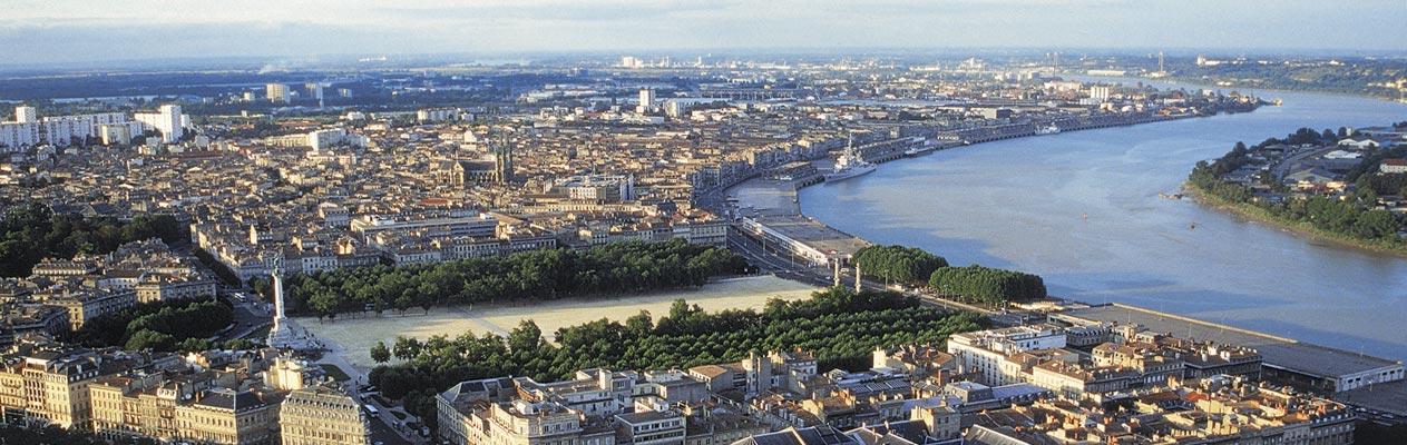 Méandre de la Garonne, Bordeaux