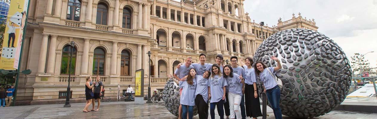 Étudiants en anglais à Brisbane