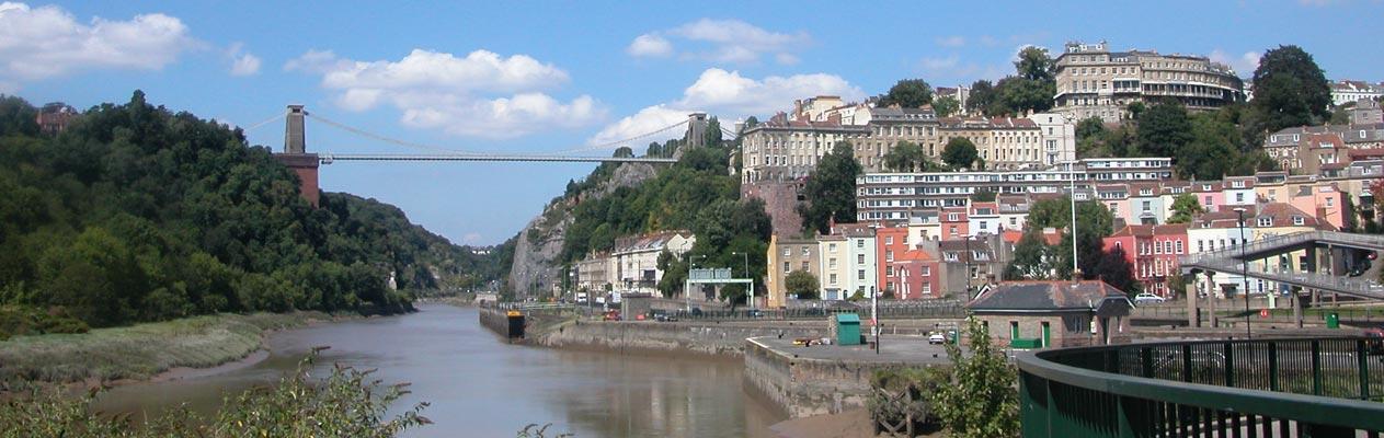 Bristol et le pont suspendu de Clifton
