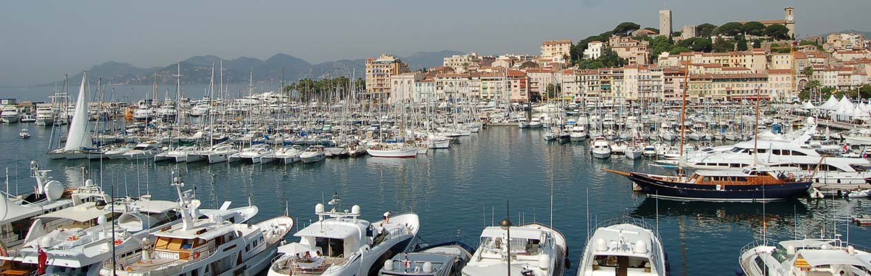 Port de plaisance de Cannes, France