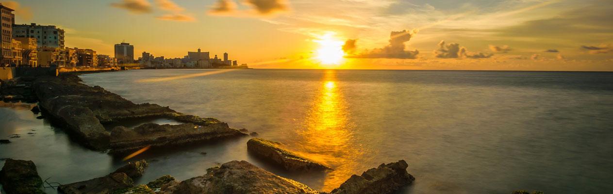 Coucher de soleil à La Havane, Cuba