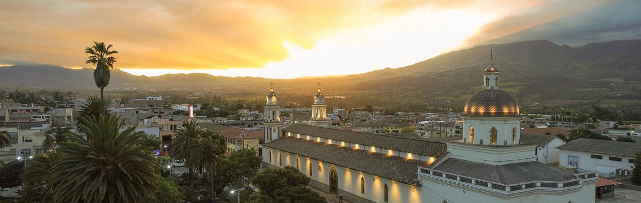 Coucher de soleil à Atuntaqui, Équateur