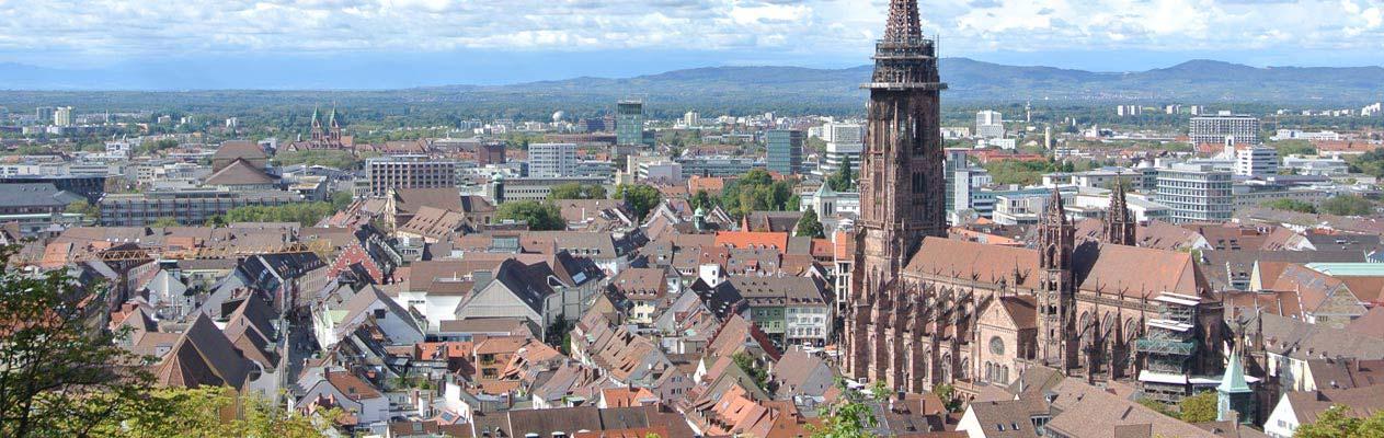 Vue aérienne de Fribourg-en-Brisgau, Allemagne