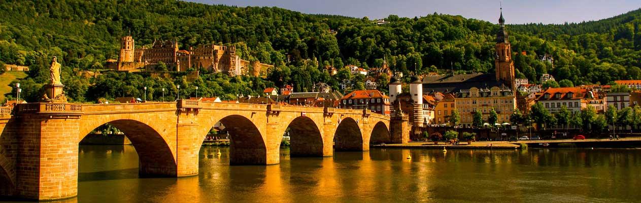 Vieux pont et château de Heidelberg, Allemagne