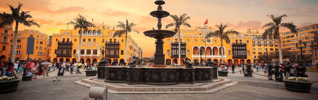 Centre de la ville de Lima, capitale du Pérou