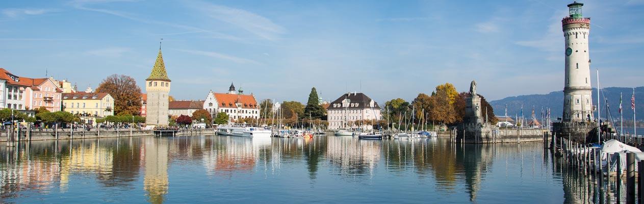 La baie de Lindau et son phare, lac de Constance
