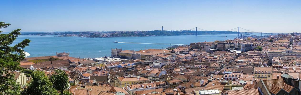 Vue de Lisbonne et du Tage