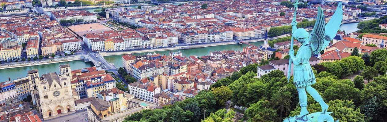 Vue de la ville de Lyon, France