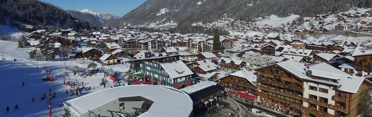 Commune alpine de Morzine, France