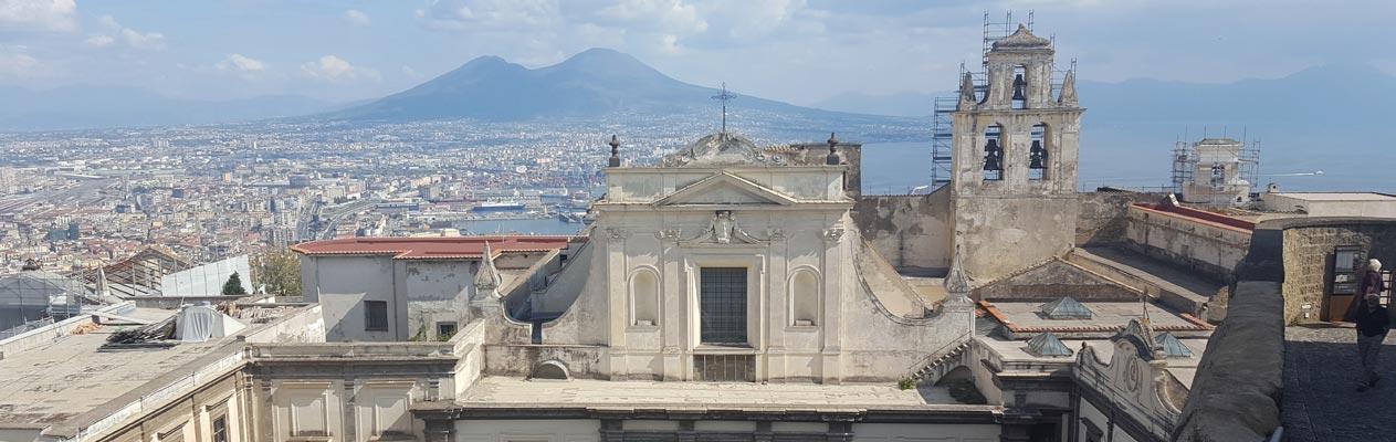 Vue sur le Vésuve depuis Castel Sant'Elmo, Naples