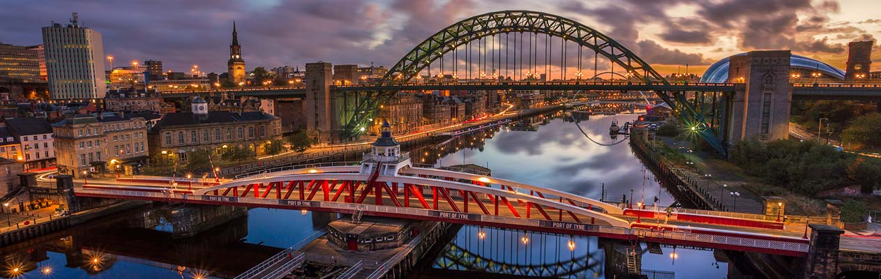 Fleuve Tyne à Newcastle, Angleterre