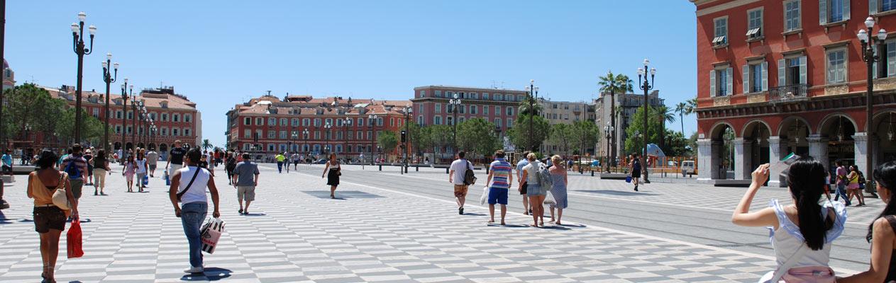 Place Massena à Nice, France