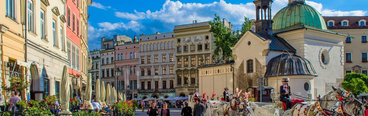 Centre-ville de Cracovie, Pologne