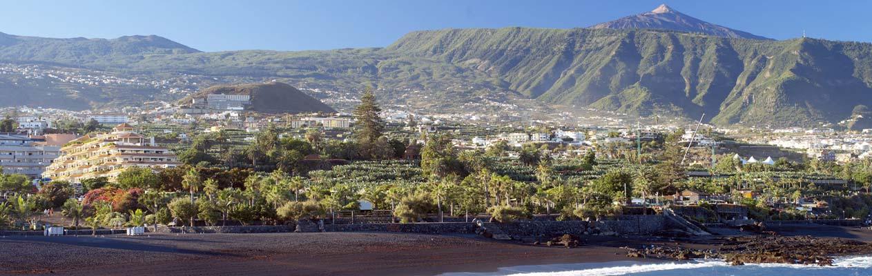 Puerto de la Cruz sur la côte nord de l'île de Ténérife