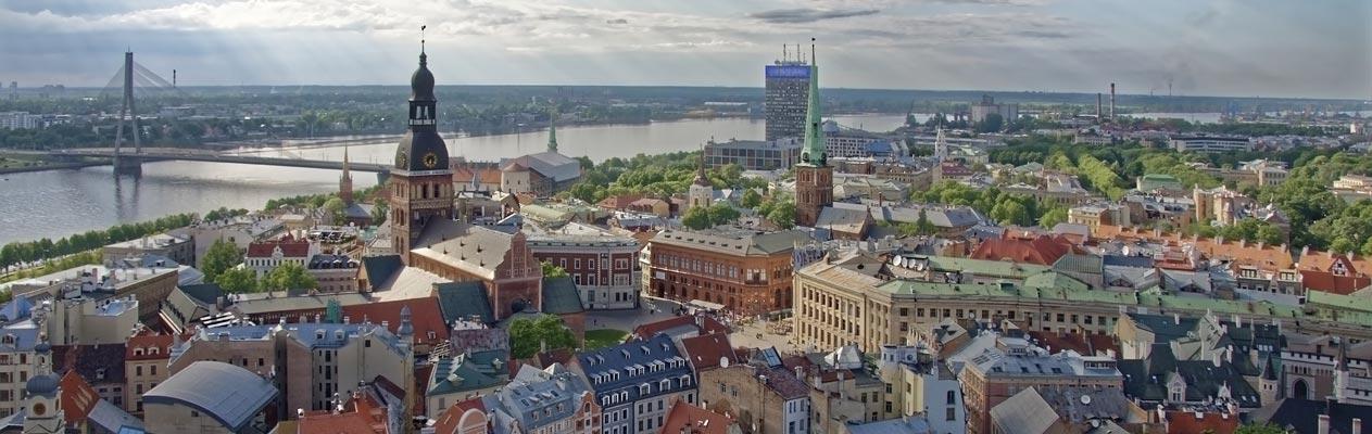 Vue du centre de Riga, Lettonie