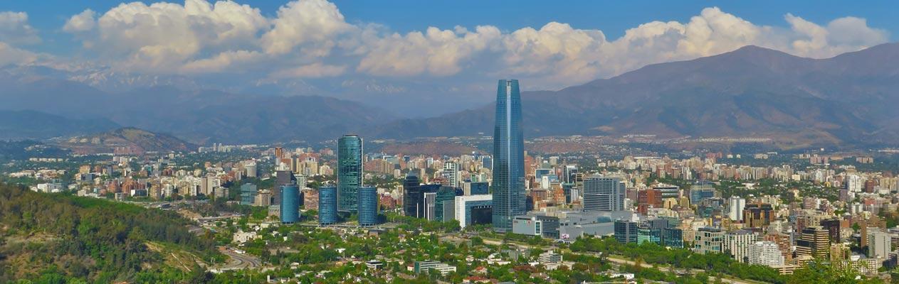 Vue de Santiago du Chili depuis le cerro San Cristóbal