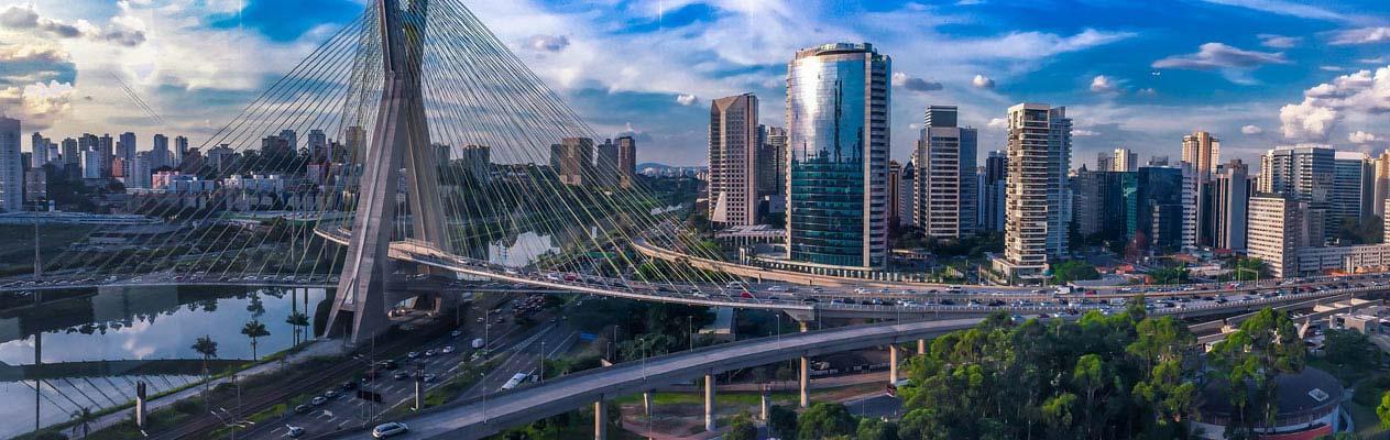La métropole de Sao Paulo, Brésil