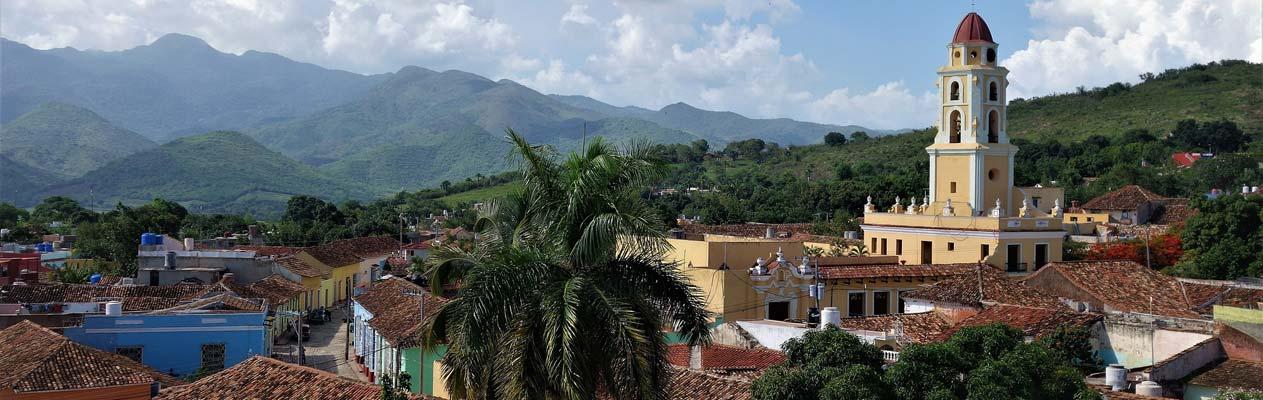 Vue de la petite ville de Trinidad à Cuba