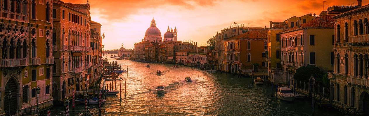 Coucher de soleil à Venise, Italie