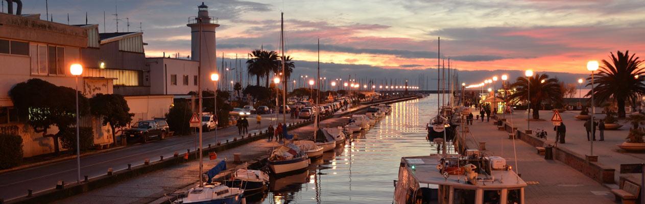 Viareggio, station balnéaire de la côte toscane, Italie